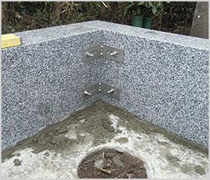 墓石の耐震補強工事